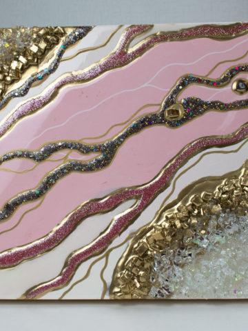 Картина Агат розовый 30×30 см