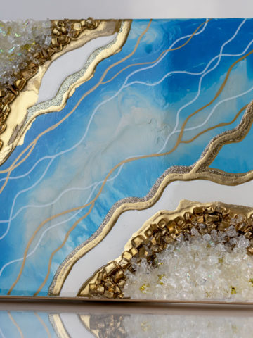Картина Geode, коллекция Срез камня 30×30 см
