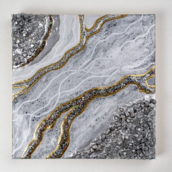 Картина из эпоксидной смолы жеода срез камня