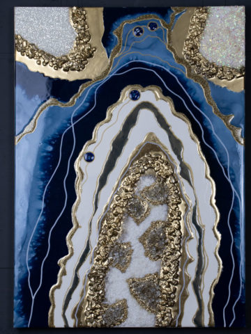 Картина Geode синий 50×70 см