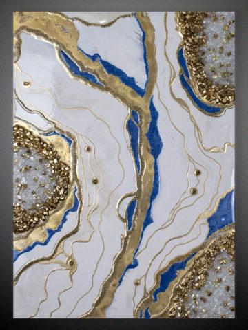 Картина Агат белый 50×70 см