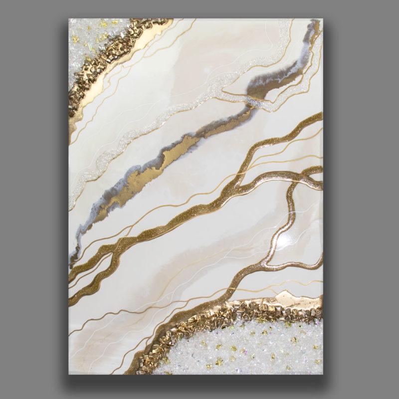 Картина Geode, коллекция Срез камня эпоксидной смолой
