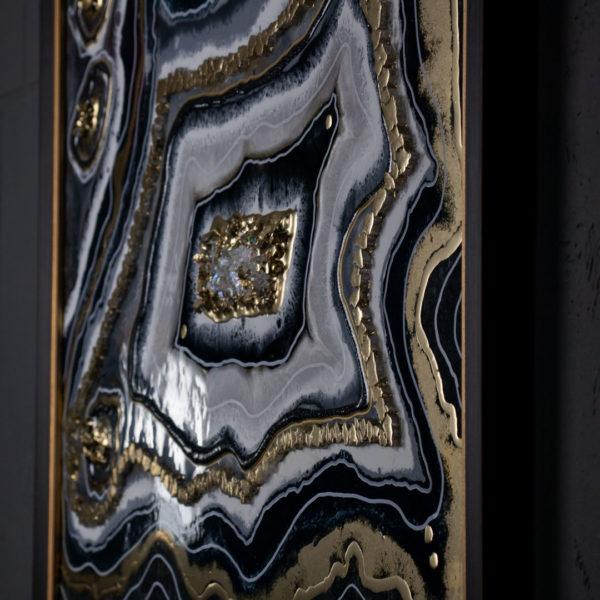 Картина жеода для интерьера из смолы