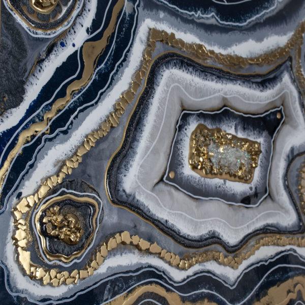 Картина Geode, коллекция Срез камня из эпоксидной смолы