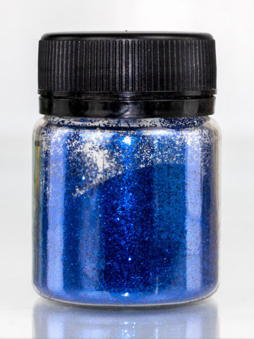 Глиттер синий для декорирования