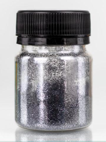 Глиттер тёмное серебро для декорирования