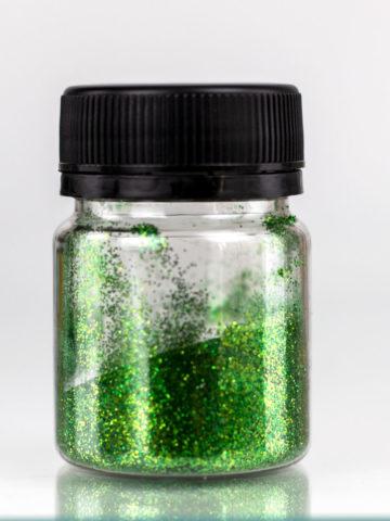 Глиттер зелёный для декорирования