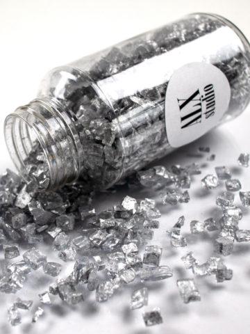 Стеклянная крошка «Серебро»
