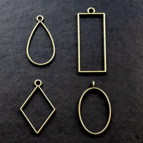 Металлическая основа для кулонов и медальонов