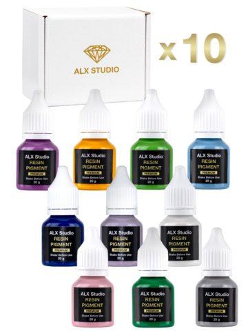 Набор высококонцентрированных красителей для эпоксидной смолы, 10 цветов-ALX235