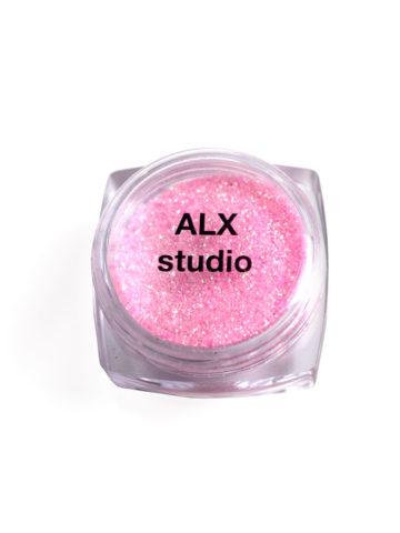 Глиттер розовый mini