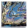 Картина из эпоксидной смолы с золотом и камнями