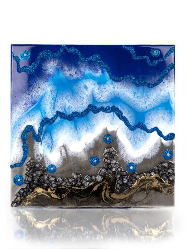 Картина выполнена эпоксидной смолой в технике Resin Art
