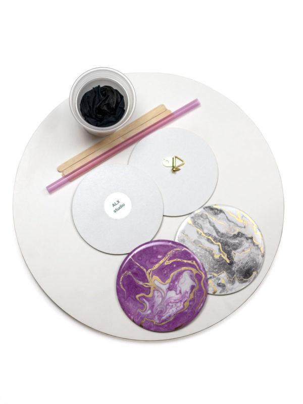 Подарочный набор для творческого человека с эпоксидной смолой в технике Resin Art