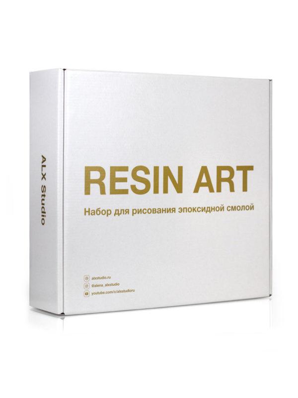 Подарочный набор для рисования эпоксидной смолой в технике Resin Art.